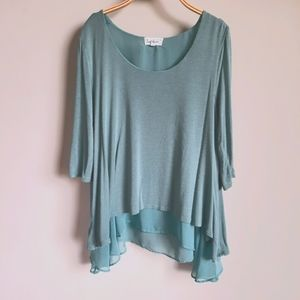 Cloud Chaser 3/4 Sleeve Flowy Top size XL